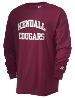 Kendall Elementary School Cougars  Russell Men's Long Sleeve T-Shirt