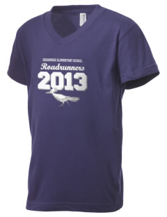 Ridgemoor Elementary School Roadrunners Kid's V-Neck Jersey T-Shirt