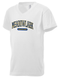 Meadowlark Elementary School Meadowlarks Kid's V-Neck Jersey T-Shirt