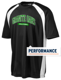Granite Oaks Middle School Falcons Men's Dry Zone Colorblock T-Shirt