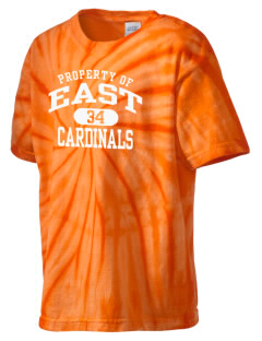 Pocono Mountain East High School Cardinals Kid's Tie-Dye T-Shirt