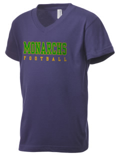 Meadows Elementary School Monarchs Kid's V-Neck Jersey T-Shirt