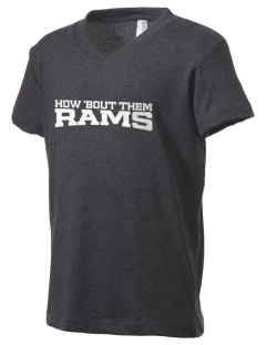 Pleasant Hill Middle School Rams Kid's V-Neck Jersey T-Shirt