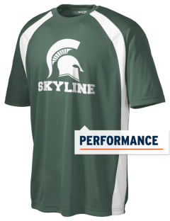 Skyline High School Spartans Men's Dry Zone Colorblock T-Shirt