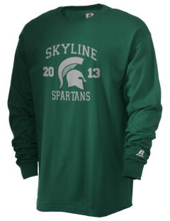 Skyline High School Spartans  Russell Men's Long Sleeve T-Shirt