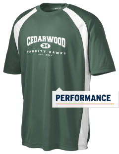 Cedarwood Elementary School Hawks Men's Dry Zone Colorblock T-Shirt