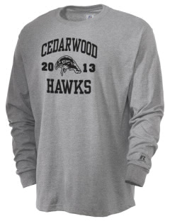 Cedarwood Elementary School Hawks  Russell Men's Long Sleeve T-Shirt