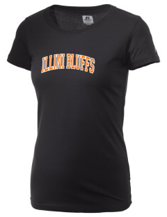 Illini Bluffs Elementary School Tigers  Russell Women's Campus T-Shirt