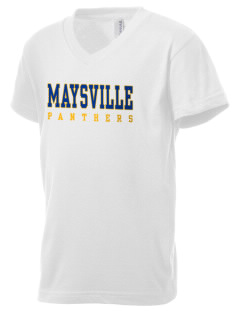 Maysville Elementary School Panthers Kid's V-Neck Jersey T-Shirt