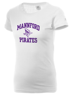 Mannford Elementary School Pirates  Russell Women's Campus T-Shirt