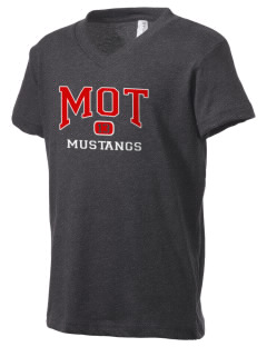 MOT Charter School Mustangs Kid's V-Neck Jersey T-Shirt