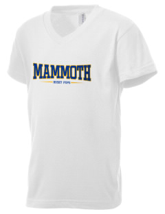Mammoth Elementary School Husky Pups Kid's V-Neck Jersey T-Shirt
