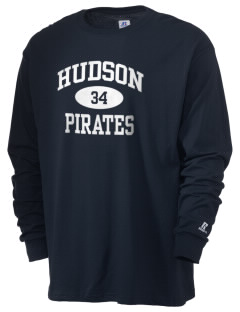 Hudson Community School Pirates  Russell Men's Long Sleeve T-Shirt