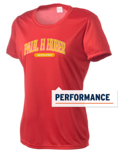 Paul H Huber Middle School Wolves Women's Competitor Performance T-Shirt