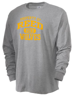 Reed Middle School Wolves  Russell Men's Long Sleeve T-Shirt