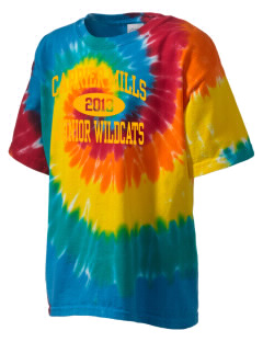 Carrier Mills Elementary School Junior Wildcats Kid's Tie-Dye T-Shirt