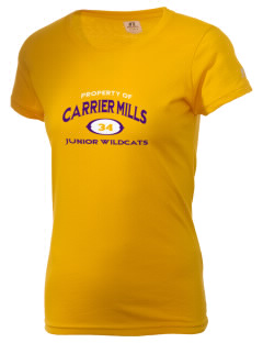 Carrier Mills Elementary School Junior Wildcats  Russell Women's Campus T-Shirt