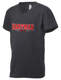 Hartman Middle School Pirates Kid's V-Neck Jersey T-Shirt