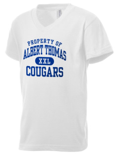 Albert Thomas Middle School Cougars Kid's V-Neck Jersey T-Shirt