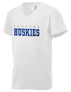 Fortuna Union High School Huskies Kid's V-Neck Jersey T-Shirt