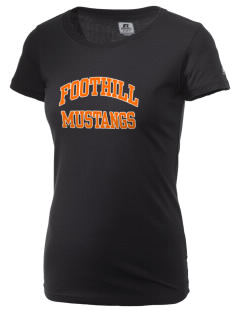 Foothill High School Mustangs  Russell Women's Campus T-Shirt