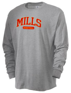Mills High School Vikings  Russell Men's Long Sleeve T-Shirt