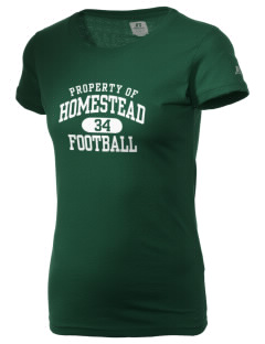 Homestead High School Mustangs  Russell Women's Campus T-Shirt