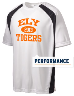 Ely High School Tigers Men's Dry Zone Colorblock T-Shirt