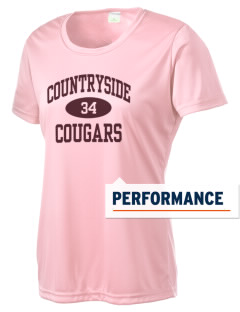Countryside High School Cougars Women's Competitor Performance T-Shirt