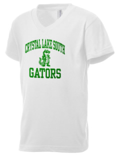 Crystal Lake South High School Gators Kid's V-Neck Jersey T-Shirt