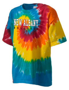 New Albany High School Bulldogs Kid's Tie-Dye T-Shirt