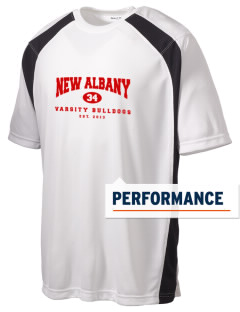 New Albany High School Bulldogs Men's Dry Zone Colorblock T-Shirt
