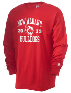 New Albany High School Bulldogs  Russell Men's Long Sleeve T-Shirt