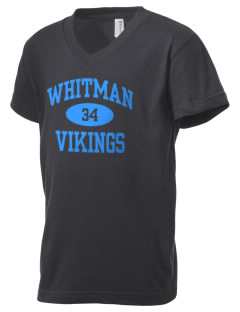 Walt Whitman High School Vikings Kid's V-Neck Jersey T-Shirt
