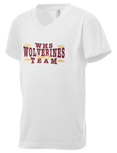 Willamette High School Wolverines Kid's V-Neck Jersey T-Shirt