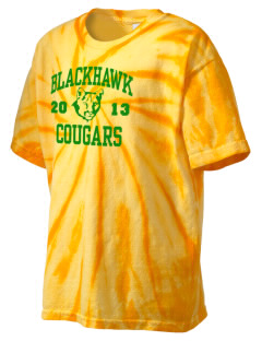 Blackhawk High School Cougars Kid's Tie-Dye T-Shirt