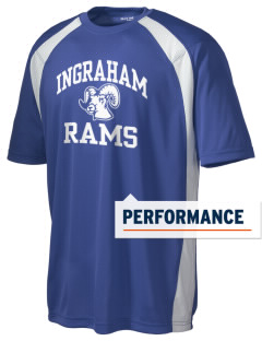 Ingraham High School Rams Men's Dry Zone Colorblock T-Shirt