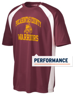 Pocahontas County High School Warriors Men's Dry Zone Colorblock T-Shirt