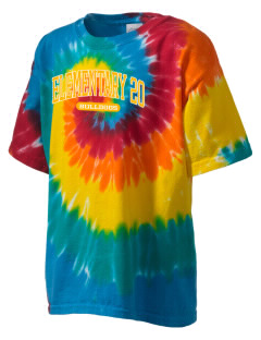 Elementary School 20 Bulldogs Kid's Tie-Dye T-Shirt