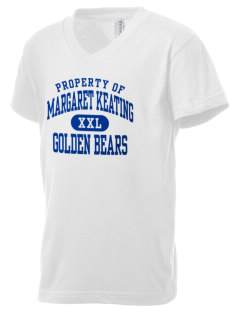 Margaret Keating School Golden Bears Kid's V-Neck Jersey T-Shirt
