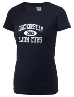 Chico Christian School Lion Cubs  Russell Women's Campus T-Shirt