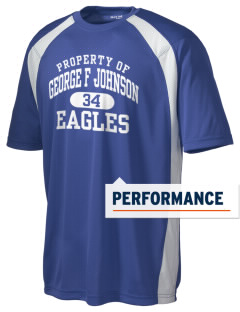 George F Johnson Elementary School Eagles Men's Dry Zone Colorblock T-Shirt