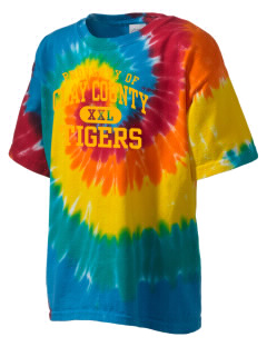 Clay County High School Tigers Kid's Tie-Dye T-Shirt