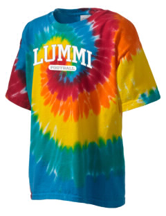 Lummi Nation School Blackhawks Kid's Tie-Dye T-Shirt