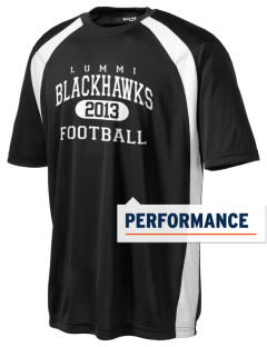 Lummi Nation School Blackhawks Men's Dry Zone Colorblock T-Shirt