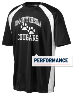 Community Christian School Cougars Men's Dry Zone Colorblock T-Shirt