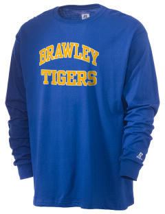 Brawley Middle School Tigers  Russell Men's Long Sleeve T-Shirt