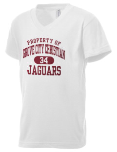 Grove City Christian School Jaguars Kid's V-Neck Jersey T-Shirt