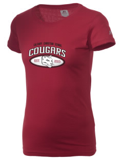 Calvary Christian School Cougars  Russell Women's Campus T-Shirt