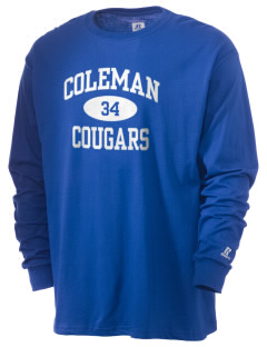 Coleman Prep School Cougars  Russell Men's Long Sleeve T-Shirt
